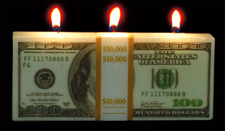 candle04 100 bill